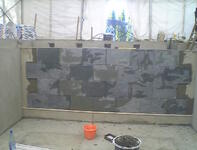 Chinese Green Slate Commencement of Tiling